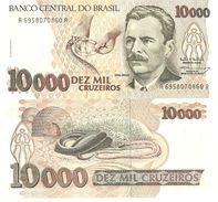 Brazil P233c, 10,000 Cruzeiros, Vital Brazil Milking Venom / Snake 1991 UNC - Brazil