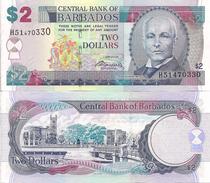 Barbados P66b, $2, John Bovellt / National Heroes Square UNC 2007 $10 CV - Barbados