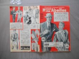 LISIEUX VÊTEMENTS CHARLES CLAUDEL MAISON DES ABEILLES RUE GENERAL LECLERC  DEPLIANT PUBLICITAIRE ETE 1952 - Advertising