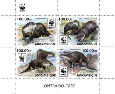 MOZAMBIQUE 2016 - WWF African Otter M/S. Official Issue - W.W.F.