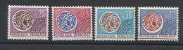 FRANCE - PREOBLITERES N°YT 126/129 NEUFS* AVEC CHARNIERE - COTE YT : 7.50€ - 1964/69 - 1964-1988