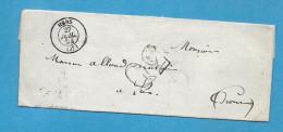 Isère - Mens Pour Luc En Diois (Drome). CàD Type 15 + Taxe Tampon 30. 1855 - Marcophilie (Lettres)