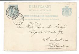 Nederland 1893  Prinses Wilhelmina Betaald Antwoord Briefkaart Stempel Grabow - 1891-1948 (Wilhelmine)