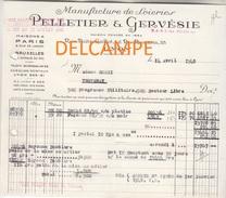 Facture Ancienne - LYON  Rue Puits Gaillot & Rue Romarin  - Manufacture De Soieries PELLETIER & GERVESIE - Textile & Vestimentaire