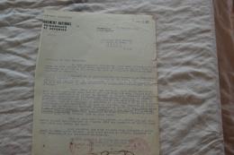 Lettre Dumouvement National Des Prisonniers Et Déporté De 1944 - Documenti