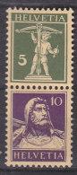 SCHWEIZ  S 21 X, Postfrisch *, Tellknabe Und Tellbrustbild 1930/33 - Zusammendrucke