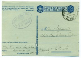 14.12.1942, Posta Militare 3300, Regio Aeroporto 310, Per Vittorito (L'Aquila) - 1900-44 Victor Emmanuel III