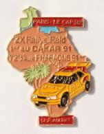 Pin's  PARIS LE CAP 1992 - CE CITROEN AULNAY - Carte De L'Arique -  Citroën ZX Rallye - EMC - F765 - Citroën