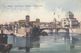 ROMA  ISOLA TIBERINA  SINAGOGA  TEVERE IN PIENA - Autres Monuments, édifices