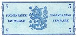 FINLAND 5 MARKKAA 1963 P-106Aa UNC LITT B SIGN. LINDBLOM & HAMALAINEN [ FIN106Aa55 ] - Finland