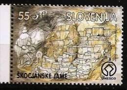 SLOVENIE Grotte, Mineraux, Yvert N° 157  ** MNH, Neuf Sans Charniere//Grotte, Skocjan, Concrétions, Lampes - Minéraux