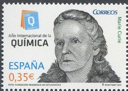 2011 - SPAGNA / SPAIN - ANNO DELLA CHIMICA / YEAR OF CHEMISTRY. MNH - 1931-Oggi: 2. Rep. - ... Juan Carlos I