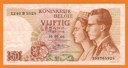 Nu-Belgique-Billet De 50 Francs De 1966 - [ 2] 1831-... : Belgian Kingdom