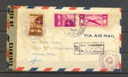 1944 , REPÚBLICA DOMINICANA , CIUDAD TRUJILLO - LA HABANA , CERTIFICADO , CENSURA - Dominican Republic
