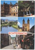 LUSSEMBURGO - LUXEMBOURG - 1992 - 12F Mersch + Flamme Nature Et Culture - Echternach - Multivues - Viaggiata Da Echte... - Echternach