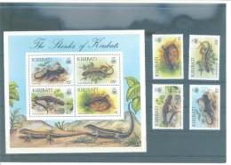 KIRIBATI 493/496   (4V + H.B.13) 1987 MICHEL - Kiribati (1979-...)