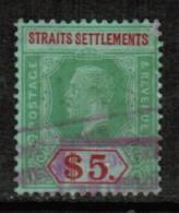 STRAITS SETTLEMENTS  Scott # 201 USED FAULTS - Straits Settlements