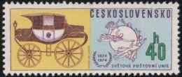 Czechoslovakia / Stamps (1974) 2105: 100th Anniversary Of Universal Postal Union (40 H) Painter: Frantisek Hudecek