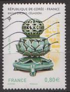 FRANCE 2016 - France Corée - Brûle Encens, Céladon - N° Y&T 5064 - Oblitéré - France
