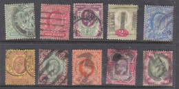Great Britain, Edward VII, 8 Values /2d - 1/=, Used