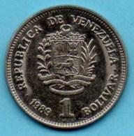 R7/  VENEZUELA  1  Bolivar 1989  KM#52a.1 Small Letters & Date - Venezuela