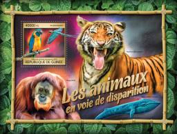 GUINEA REP. 2016 ** Endangered Animals Gefährdete Tiere Animaux En Voie De Disparition S/S - OFFICIAL ISSUE - A1640 - Autres