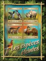 GUINEA REP. 2016 ** Extinct Animals Rhino Rhinoceros M/S - OFFICIAL ISSUE - A1640