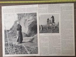 ANCIEN DOCUMENT 1900 TRAPPISTES DE SAINT PAUL AUX TROIS FONTAINES - Collections