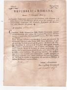 Italia - 1802 Repubblica Romana Anno 7  Documento Di Notifica Per Il Cittadino Altoviti - Italy