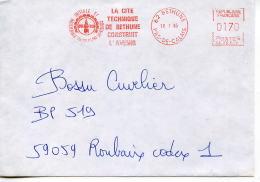 EMA Tour,beffroi,education,Cité Technique De Bethune,formation Initiale Et Continue,lettre Obliterée 10.1.1985 Bethune - Unclassified