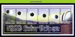 Ndg031b ZONSVERDUISTERING SOLAR ECLIPSE SPACE SONNENFINSTERNIS MALDIVES 2000 PF/MNH # - Astronomy