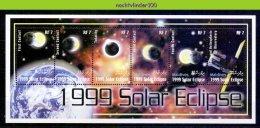 Ndg032b ZONSVERDUISTERING PLANET EARTH SOLAR ECLIPSE SPACE SONNENFINSTERNIS MALDIVES 2000 PF/MNH # - Astronomy