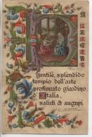 ITALIE - Saluti Augupi - Carte Gaufrée; 1903 - Italie