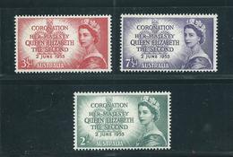 Australien Nr. 231 - 33 ** , Krönung Von Königin Elisabeth II. - Ongebruikt