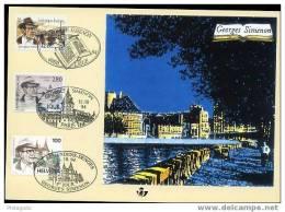 OCB Nr 2579 2579HK Herdenkingskaart Carte Souvenir Georges Simenon - Lettres & Documents