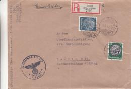 Allemagne - Empire - Lettre Recommandée De 1941 ° - Oblitération Cosel - Expédié Vers Berlin W - Briefe U. Dokumente