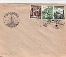 12.1.1941 LETTRE STRASSBURG TAG DER BRIEFMARKE  / 5674 - Deutschland