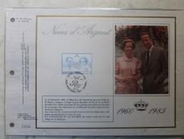 2198 Noces D´argent Baudouin Et Fabiola Tirage Limité - Cartes Souvenir