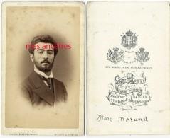 CDV Vers 1870-portrait De Marc MORAND, Bel Homme-photoG. Rossi à Milano Et Genova - Old (before 1900)