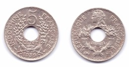 French Indochina 5 Centimes 1939 - Vietnam