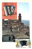 ITALIE CARTE MAXIMUM NUM.YVERT 1830 ACCORDEON CASTELFIDARDO - Cartoline Maximum