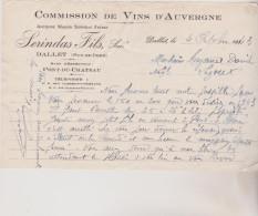 (PUY DE DOME ) DALLET , Commission Des Vins D'Auvergne ; SERINDAS  Fils - Agriculture