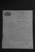 Lettre Ancienne Publicitaire , BEAUNE, L. D'ETANG, Propriétaire Et Négociant En Vins. - 1800 – 1899