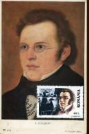 14387 Romania, Maximum 2001, Franz Schubert,  Vintage Card - Music