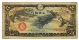 China 5 Yen, Jap. Oc.  WWII, F. Free Ship. To U.S.A. - Chine