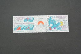 M4670- Set In Strip MNH TAAF  -1987-  Yv:139A- Euro Campagne Mt Ross - Complexes Volcano - Minerali