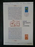 DOCUMENT PHILATELIQUE OFFICIEL..... 1998.....1898-1998  LIGUE DES DROITS DE L´HOMME..........09/05/1998 - Documents De La Poste