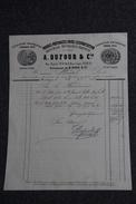 Facture Ancienne Publicitaire , BORDEAUX - Prunes Préparées Pour L'exportation, A.DUFOUR Et Cie - 1800 – 1899