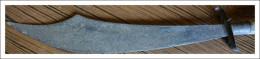 Dague, Couteau Cimetere ? Ancien  A Identifier Manche En Bois De Cerf, A Identifier - Blankwaffen