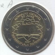 2 €   2007 ALLEMAGNE TRAITR DE ROME COMMEMORATIVE  LETTRE * A *  //  UNC // NEUF - Allemagne
